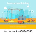 cartoon construction building... | Shutterstock .eps vector #680268943