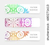 set of banners with colorful... | Shutterstock .eps vector #680271613