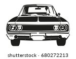 front view vector silhouette of ... | Shutterstock .eps vector #680272213