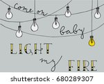 inspirational hand drawn card... | Shutterstock .eps vector #680289307