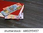 australian dollars and... | Shutterstock . vector #680295457