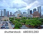 houston downtown skyline with... | Shutterstock . vector #680301283