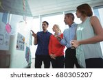 low angle view of business...   Shutterstock . vector #680305207