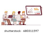 marketing business team... | Shutterstock .eps vector #680311597