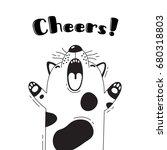 illustration with joyful dog...   Shutterstock .eps vector #680318803