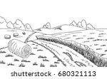 rural road graphic black white... | Shutterstock .eps vector #680321113