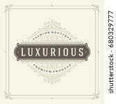 ornament logo design template... | Shutterstock .eps vector #680329777