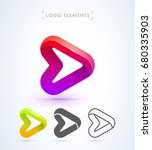 play button logo in material... | Shutterstock .eps vector #680335903