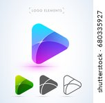 abstract play button logo in... | Shutterstock .eps vector #680335927
