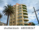 apartment building at the... | Shutterstock . vector #680338267