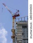 multistory residential building ... | Shutterstock . vector #680344003