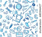 back to school seamless raster... | Shutterstock . vector #680346427