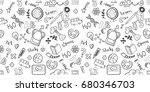 back to school seamless raster... | Shutterstock . vector #680346703