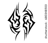 tribal tattoo art designs.... | Shutterstock .eps vector #680348503