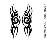 tribal tattoo art designs.... | Shutterstock .eps vector #680348707