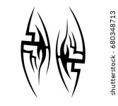 tribal tattoo art designs.... | Shutterstock .eps vector #680348713