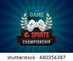 vector of electronic sports...   Shutterstock .eps vector #680356387