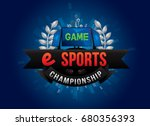 vector of electronic sports...   Shutterstock .eps vector #680356393