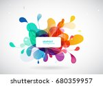 abstract colored flower... | Shutterstock .eps vector #680359957