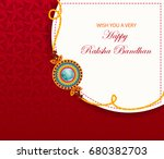 elegant rakhi for brother and... | Shutterstock .eps vector #680382703