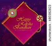 elegant rakhi for brother and... | Shutterstock .eps vector #680382823