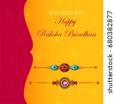 elegant rakhi for brother and... | Shutterstock .eps vector #680382877