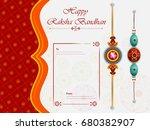 elegant rakhi for brother and... | Shutterstock .eps vector #680382907
