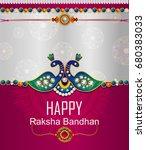 elegant rakhi for brother and... | Shutterstock .eps vector #680383033