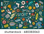 colorful vector hand drawn...   Shutterstock .eps vector #680383063