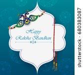 elegant rakhi for brother and...   Shutterstock .eps vector #680383087