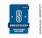 8 years anniversary design... | Shutterstock .eps vector #680387377
