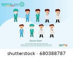 the  professional medical team... | Shutterstock .eps vector #680388787