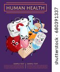 human health medical poster.... | Shutterstock .eps vector #680391337