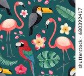 watercolor illustrations of... | Shutterstock . vector #680392417