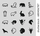 mammal icons set. set of 16... | Shutterstock .eps vector #680406787