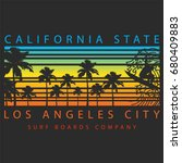 california surf graphic... | Shutterstock .eps vector #680409883