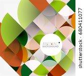 cut paper circles  mosaic mix... | Shutterstock . vector #680411077