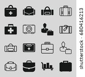 case icons set. set of 16 case... | Shutterstock .eps vector #680416213