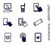 touchscreen icons set. set of 9 ... | Shutterstock .eps vector #680419867