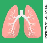 lungs icon. human internal... | Shutterstock .eps vector #680421133