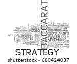 baccarat strategy myth or... | Shutterstock .eps vector #680424037