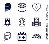 doctor icons set. set of 9... | Shutterstock .eps vector #680424913