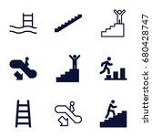 staircase icons set. set of 9...   Shutterstock .eps vector #680428747
