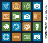 photographic icons set. set of... | Shutterstock .eps vector #680437057