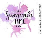 watercolor design of summer... | Shutterstock . vector #680437303