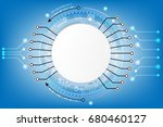 vector circuit and... | Shutterstock .eps vector #680460127
