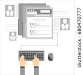 social network vector concept.... | Shutterstock .eps vector #680470777