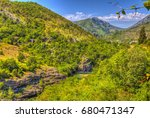 hills and mountains above the... | Shutterstock . vector #680471347