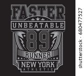run sport faster typography ... | Shutterstock .eps vector #680477527