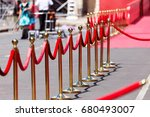 way to success on the red... | Shutterstock . vector #680493007